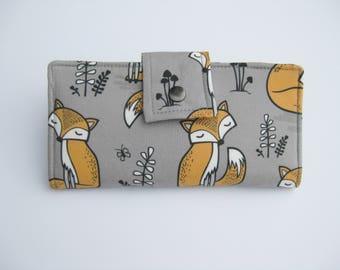 Womens Wallet, Fox Wallet, Handmade Ladies  Wallet