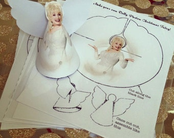 Dolly Parton Christmas Angel/Fairy/Tree Topper Decoration