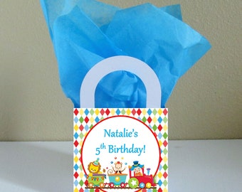 Small Boxes 3x3x2.5 inches Circus Favor Boxes Circus Favor Bags Circus Popcorn Boxes Circus Party Favors