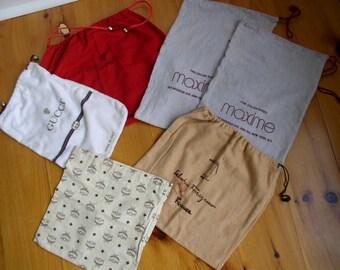 Six Flannel  Shoe Bags