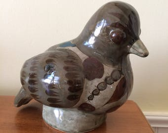 Vintage Mexican Art Pottery Bird Made In Mexico