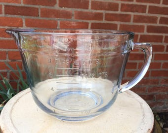 Vintage Fire King Clear Batter Bowl 8 cup
