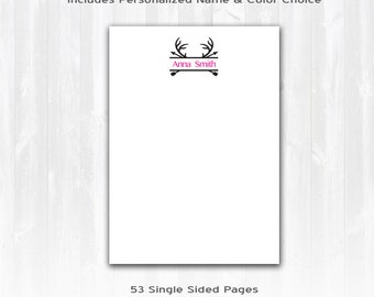 Personalized Notepad, Personalized Stationery Set, Personalized Note Pad, Custom Stationery Set, Calligraphy Stationery, Custom Notepad