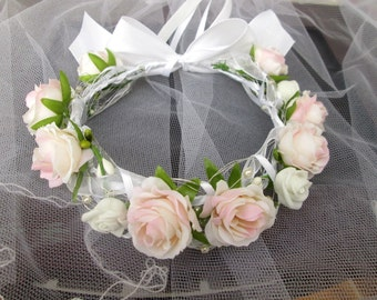 Flower Crown bridal Crown communion wreath hair wreath wreath communion, wedding, Bridal wedding Crown flower