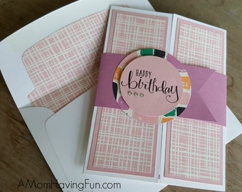 Handmade Happy Birthday Card: Stampin Up Gate Fold Style
