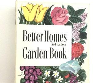Vintage Garden Book Better Homes & Gardens 1950s Gardening How To Gardeners Gift