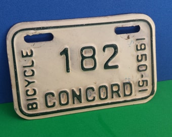 Bicycle Licence Plate-NH 1951