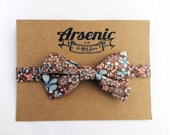 Boys bow tie | toddler bow tie | baby bow tie | floral bow tie | page boy bow tie | brown bow tie | blue bow tie | vintage bow tie
