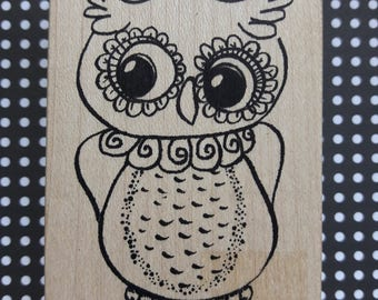 Owl Wood Mounted Rubber Stamp Scrapbooking & Paper Craft Supplies