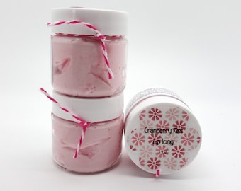 Cranberry Kiss Lip Butter, Lip Balm, Lip Icing 1 oz Jar