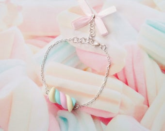 bracelet marshmallow polymer clay