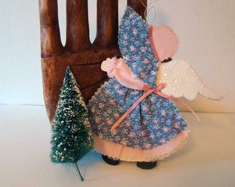 Vintage Angel ornament, Angel ornament, nursery decor, Christmas ornament Angel, little girl angel ornament