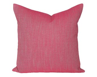 Linen Canvas Fuchsia designer pillow cover - Robert Allen - made to order - choose your size