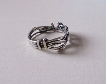 One of a kind oxidised silver ring 3
