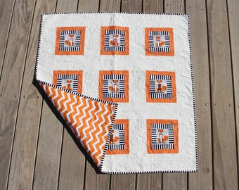 Dapper Fox Baby Quilt