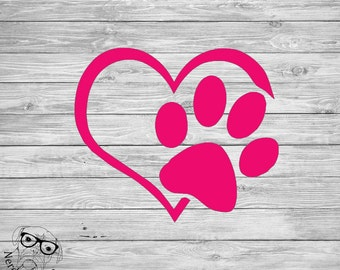 Dog Paw Decal, Dog Pawprint Decal, Pawprint Window Decal, Pawprint Laptop Decal, Pet Decal- You choose size and color.