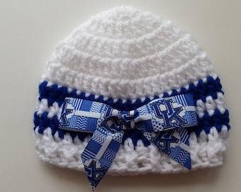 Baby Hat,Kentucky Wildcats, Hand Crochet, sizes Newborn or 3-6 months