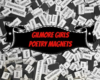 Gilmore Girls Poetry Magnet Set, Poetry Word Magnets, Free Gift Wrap