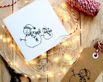 Snowman Stamp - Snowmen Stamp - Christmas Snowman Stamp - Snowmen - Snowman - Card Making Snowmen Stamps - Little Stamp Store