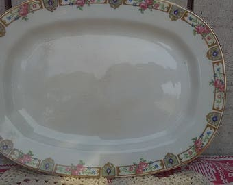 """Edwin Knowles Vitreous Plaza 11"""" Oval Serving Platter"""