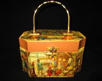 Palizzo Decoupage Wooden Vintage Purse