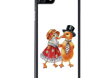 iPhone 5 5s 6 6s 6+ 6s+ SE 7 7+ iPod 5 6 Phone Case, Mr Mrs Duck Design, Couple, Animal, Dressed, Easter, Plus
