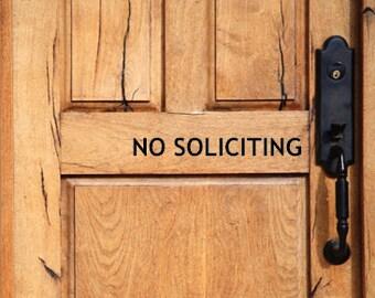 No Soliciting Door Decal - Vinyl Decal - Door Vinyl Decal - Do Not Disturb Vinyl Decal - Front Door Decal
