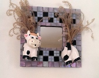 Stained Glass Cow Etsy