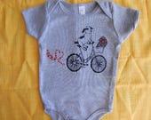 Baby one-piece Goat on a Bike, Newborn-24 mos