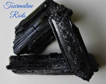 BLACK TOURMALINE Rods for Aura Cleansing, Purification and Protection