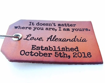 Boyfriend Christmas Gift, Luggage Tag, Travel Gift, Gifts For Him, Personalized, Christmas Gifts for Men, Baggage Tag, Leather, For Him