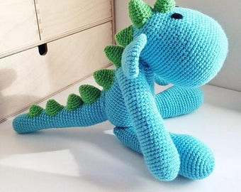 Cute baby dinosaur <3 - crochet toy - choose your own colours