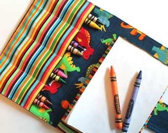 Crayon Holder - Kids Coloring - Travel Toy - Dinosaur Crayon Case - Coloring - Kids Coloring - Children's Gift - Party Favor