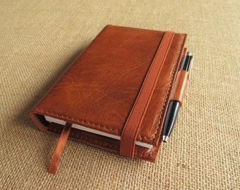 Leather small journal, handmade notebook, field notes, travel journal, sketchbook