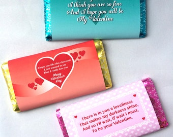 Valentine's Day Chocolate Wrapper, fits 114g & 135g Galaxy Chocolate Bars
