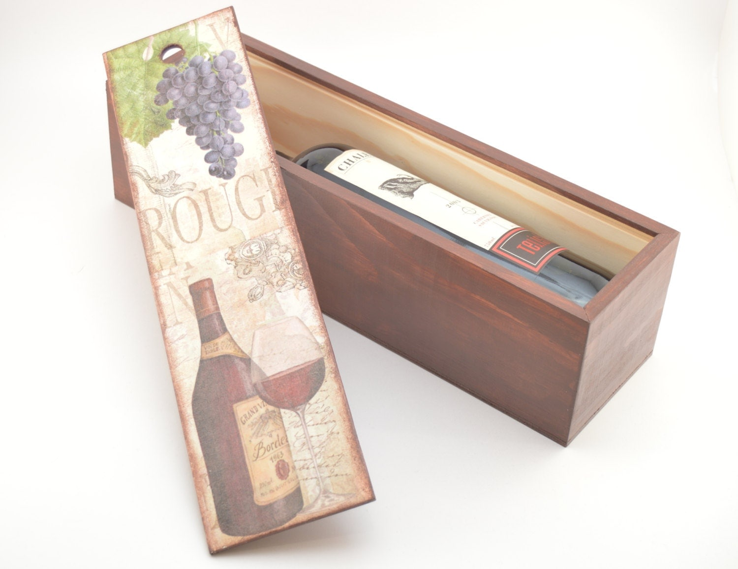 Wooden crib for sale makati - Wooden Decoupage Wine Box Wooden Wine Box Decoupage Wine Box Vine Decoration Handmade Decoration Home Decoration Rustic Box