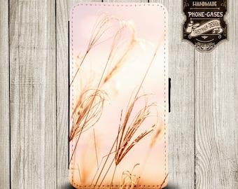 "Handytasche, Leather Wallet Phone  Case  iPhone & Samsung, Sony Xperia ""Dünen"""