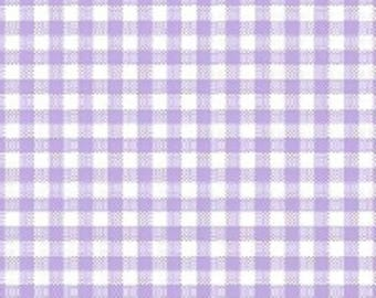 Light Purple small gingham, lavender and white gingham, purple and white checked fabric , 1/4 inch gingham
