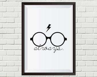Harry Potter - Always + Glasses + Scar | Digital Download