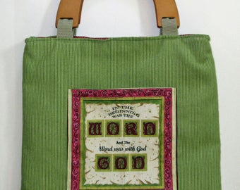 Bible Tote bag, Bible covers, Bible verse tote