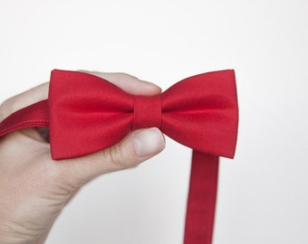 red Bowtie solid  Red tie-  Boys Bow Ties  - Baby bow tie - toddler bow ties weeding bow tie, kids bow tie, kids accessory