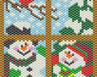 Wintertime Window bead banner pattern