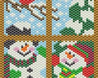 Wintertime Window bead banner pattern