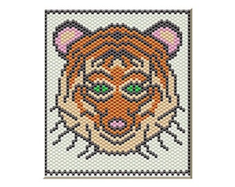 Bengal Tiger Pony bead banner pattern only