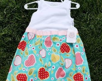 Upcycled Apple Dress size 18m