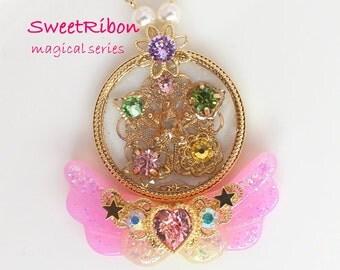 Lolita Fairy kei Kawaii mahou shoujo Harajyuku Magical girl Mahou-kei wing necklace