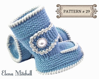 Knitting Pattern For Baby Boy Shoes : P A T T E R N Baby Booties Baby Girl Shoes Pattern Knitted