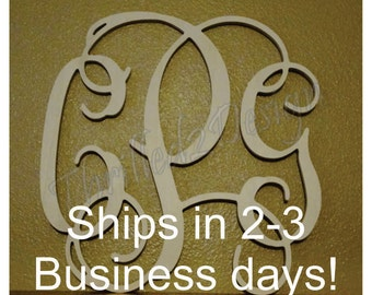 18 inch Vine Connected Wooden Monogram Fast Ship - Wedding, Home, Nursery, Letters