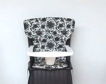 high chair cover, Eddie Bauer Newport replacement high chair pad, feeding chair cushion , baby accessory, Safety First wood chair, elegance