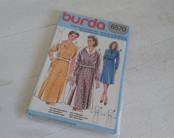 Burda 6570, Casual Dress Pattern, Various Sizes, Factory Folded - 1980s